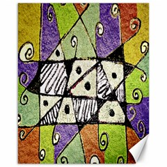 Multicolored Tribal Print Abstract Art Canvas 16  X 20  (unframed) by dflcprints
