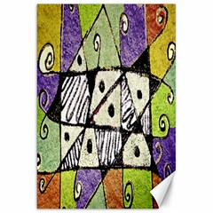 Multicolored Tribal Print Abstract Art Canvas 20  X 30  (unframed) by dflcprints