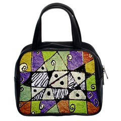 Multicolored Tribal Print Abstract Art Classic Handbag (two Sides) by dflcprints