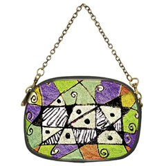 Multicolored Tribal Print Abstract Art Chain Purse (two Sided)  by dflcprints