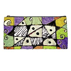 Multicolored Tribal Print Abstract Art Pencil Case by dflcprints