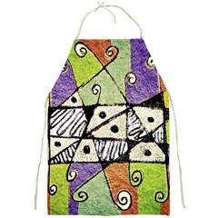 Multicolored Tribal Print Abstract Art Apron by dflcprints
