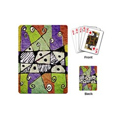 Multicolored Tribal Print Abstract Art Playing Cards (mini) by dflcprints