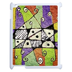 Multicolored Tribal Print Abstract Art Apple Ipad 2 Case (white) by dflcprints