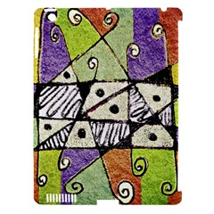 Multicolored Tribal Print Abstract Art Apple Ipad 3/4 Hardshell Case (compatible With Smart Cover)