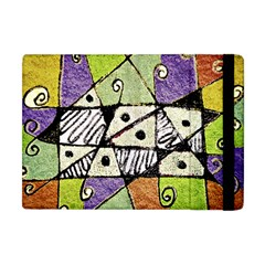 Multicolored Tribal Print Abstract Art Apple Ipad Mini Flip Case by dflcprints
