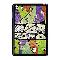 Multicolored Tribal Print Abstract Art Apple Ipad Mini Case (black) by dflcprints