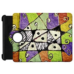 Multicolored Tribal Print Abstract Art Kindle Fire Hd Flip 360 Case by dflcprints