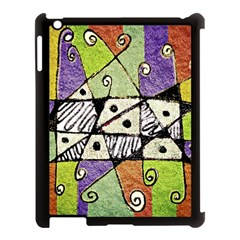 Multicolored Tribal Print Abstract Art Apple Ipad 3/4 Case (black) by dflcprints