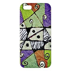 Multicolored Tribal Print Abstract Art Apple Iphone 5 Premium Hardshell Case by dflcprints
