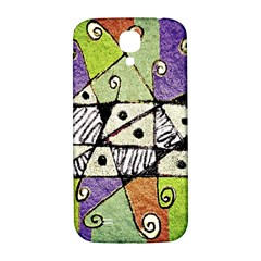 Multicolored Tribal Print Abstract Art Samsung Galaxy S4 I9500/i9505  Hardshell Back Case by dflcprints