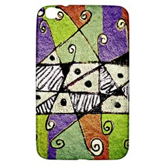 Multicolored Tribal Print Abstract Art Samsung Galaxy Tab 3 (8 ) T3100 Hardshell Case  by dflcprints