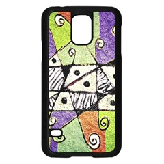 Multicolored Tribal Print Abstract Art Samsung Galaxy S5 Case (black)