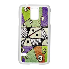 Multicolored Tribal Print Abstract Art Samsung Galaxy S5 Case (white) by dflcprints