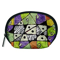Multicolored Tribal Print Abstract Art Accessory Pouch (medium) by dflcprints