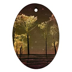 Fantasy Landscape Oval Ornament by dflcprints