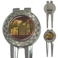 Fantasy Landscape Golf Pitchfork & Ball Marker by dflcprints