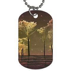 Fantasy Landscape Dog Tag (two Sided)  by dflcprints