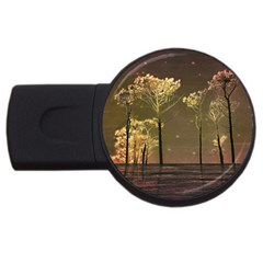 Fantasy Landscape 2gb Usb Flash Drive (round) by dflcprints