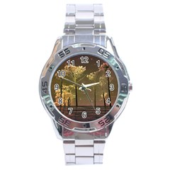 Fantasy Landscape Stainless Steel Watch by dflcprints