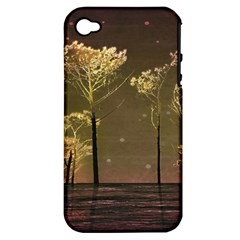 Fantasy Landscape Apple Iphone 4/4s Hardshell Case (pc+silicone) by dflcprints
