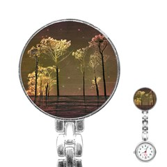 Fantasy Landscape Stainless Steel Nurses Watch by dflcprints