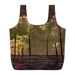 Fantasy Landscape Reusable Bag (l) by dflcprints