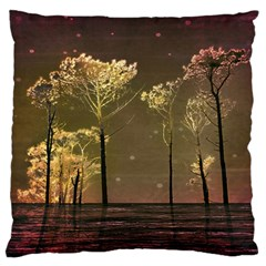 Fantasy Landscape Large Flano Cushion Case (two Sides) by dflcprints
