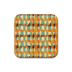 Shredded Abstract Background Rubber Square Coaster (4 Pack) by LalyLauraFLM