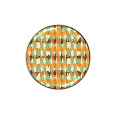 Shredded Abstract Background Hat Clip Ball Marker by LalyLauraFLM