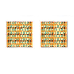 Shredded Abstract Background Cufflinks (square) by LalyLauraFLM