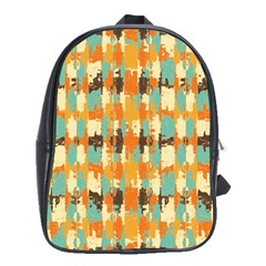 Shredded Abstract Background School Bag (large) by LalyLauraFLM