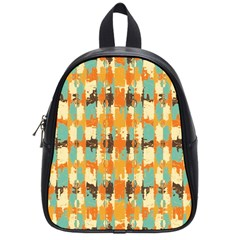 Shredded Abstract Background School Bag (small) by LalyLauraFLM