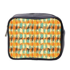Shredded Abstract Background Mini Toiletries Bag (two Sides) by LalyLauraFLM
