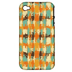 Shredded Abstract Background Apple Iphone 4/4s Hardshell Case (pc+silicone) by LalyLauraFLM