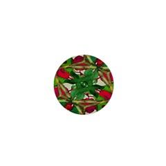 Floral Print Colorful Pattern 1  Mini Button by dflcprints