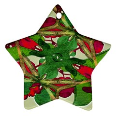 Floral Print Colorful Pattern Star Ornament by dflcprints
