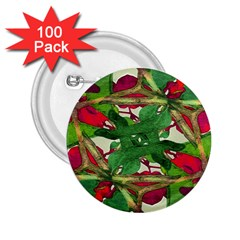 Floral Print Colorful Pattern 2 25  Button (100 Pack) by dflcprints