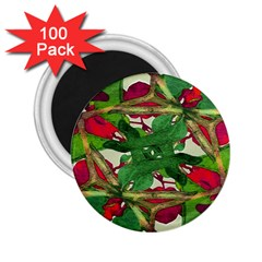 Floral Print Colorful Pattern 2 25  Button Magnet (100 Pack) by dflcprints