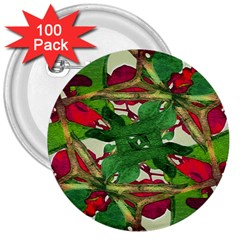 Floral Print Colorful Pattern 3  Button (100 Pack) by dflcprints