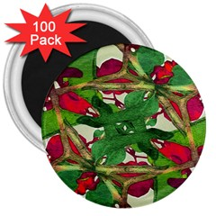 Floral Print Colorful Pattern 3  Button Magnet (100 Pack) by dflcprints