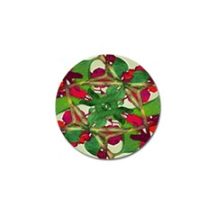 Floral Print Colorful Pattern Golf Ball Marker by dflcprints