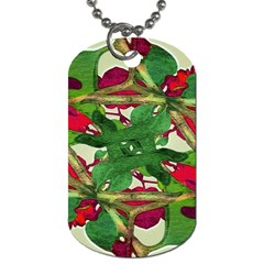 Floral Print Colorful Pattern Dog Tag (two Sided)  by dflcprints