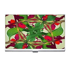Floral Print Colorful Pattern Business Card Holder by dflcprints