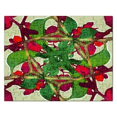 Floral Print Colorful Pattern Jigsaw Puzzle (rectangle) by dflcprints