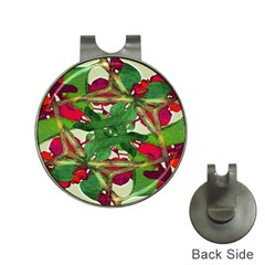Floral Print Colorful Pattern Hat Clip With Golf Ball Marker by dflcprints