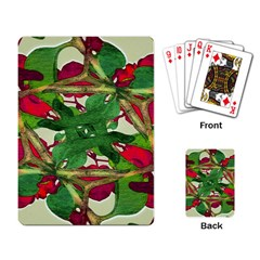 Floral Print Colorful Pattern Playing Cards Single Design by dflcprints