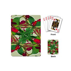 Floral Print Colorful Pattern Playing Cards (mini) by dflcprints