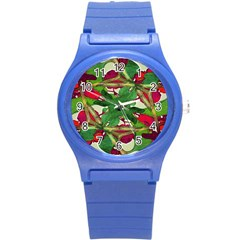 Floral Print Colorful Pattern Plastic Sport Watch (small) by dflcprints