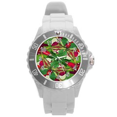 Floral Print Colorful Pattern Plastic Sport Watch (Large) by dflcprints